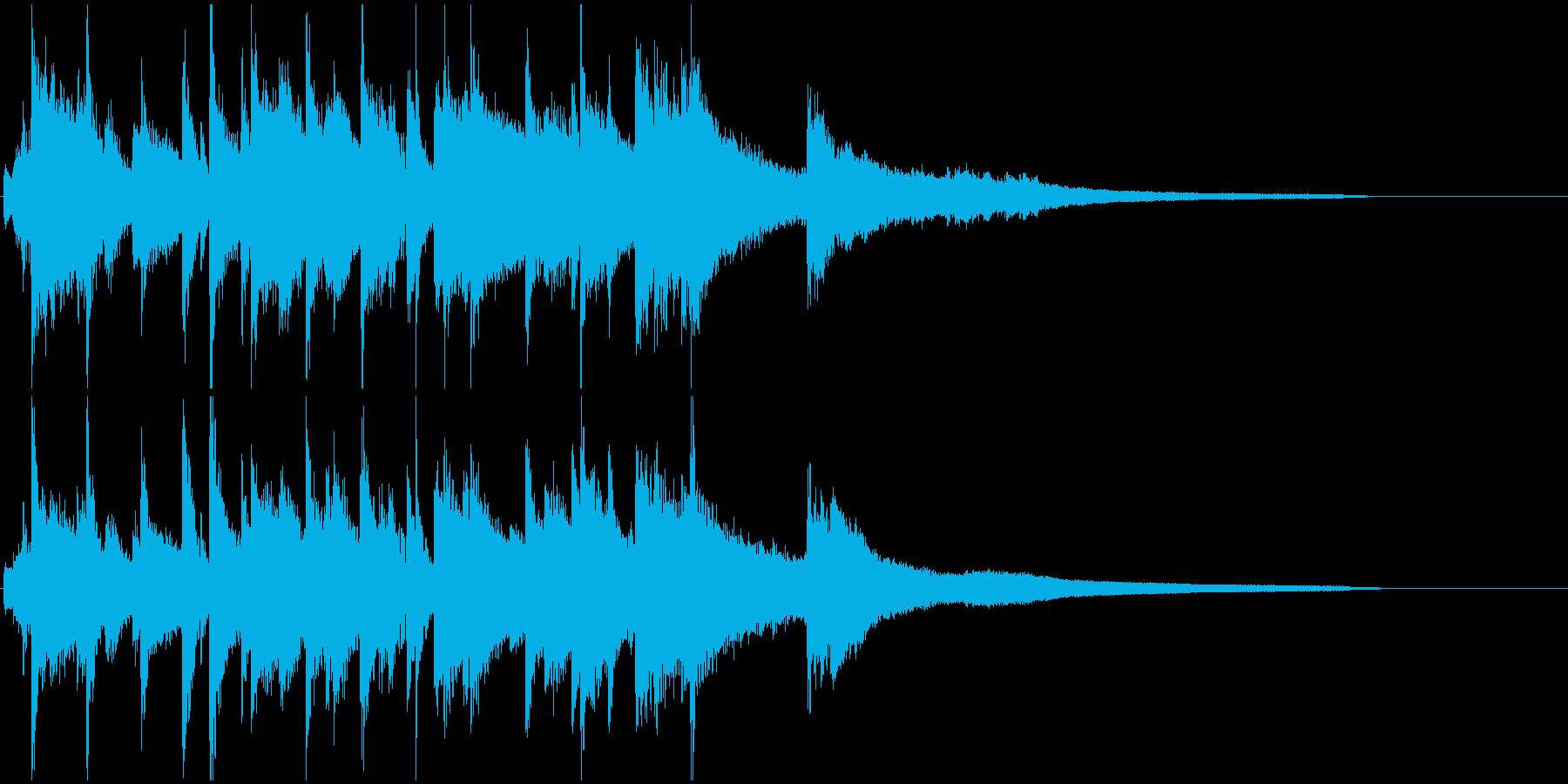 ラジオジングルの再生済みの波形