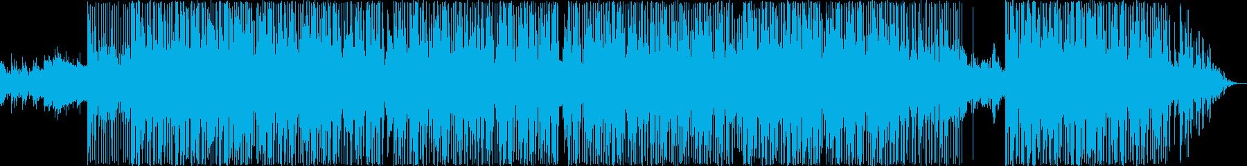 ヒップホップジャズトラックの再生済みの波形