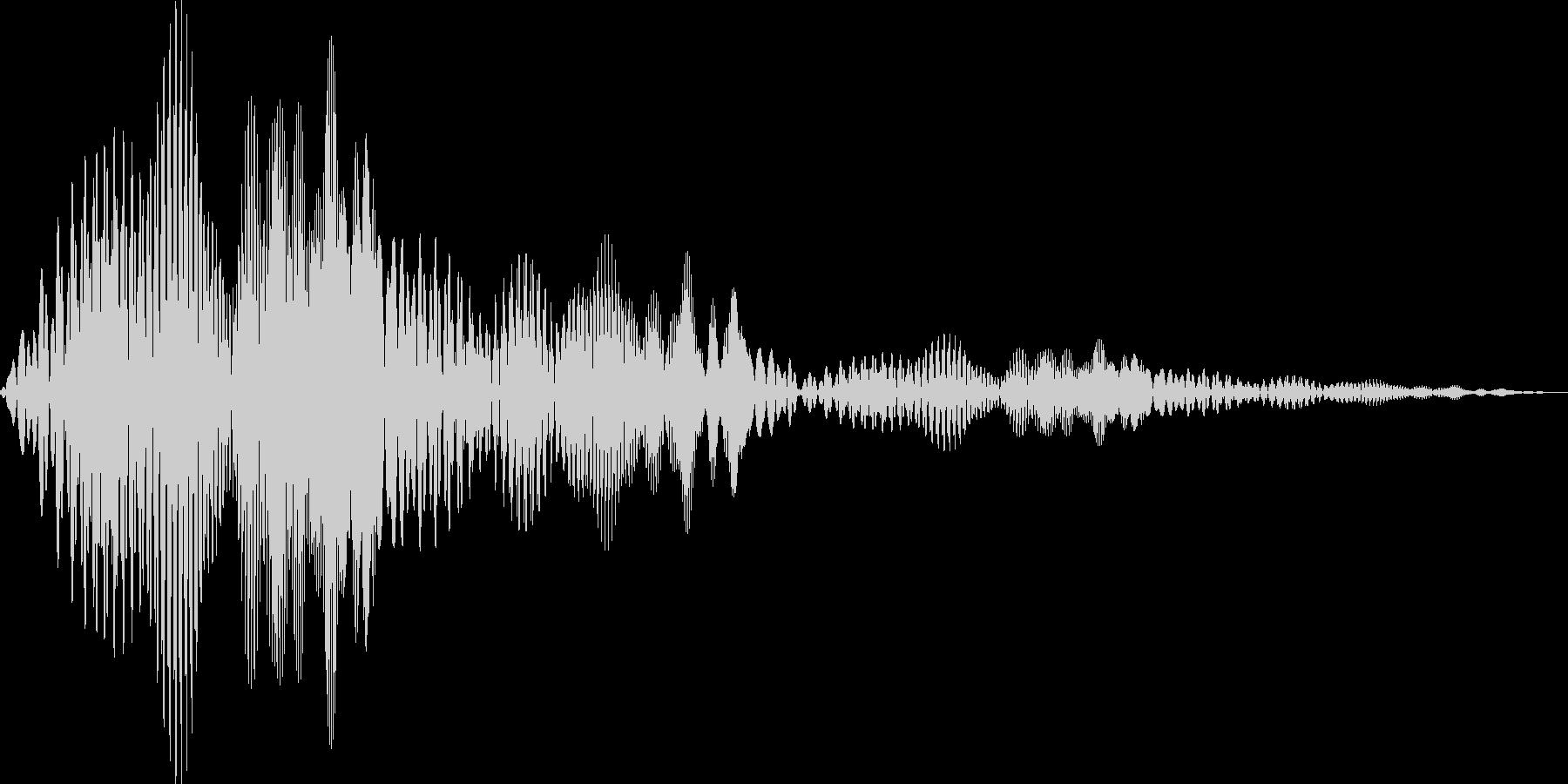 ボワボワ(ワープ ビーム ちからため)の未再生の波形