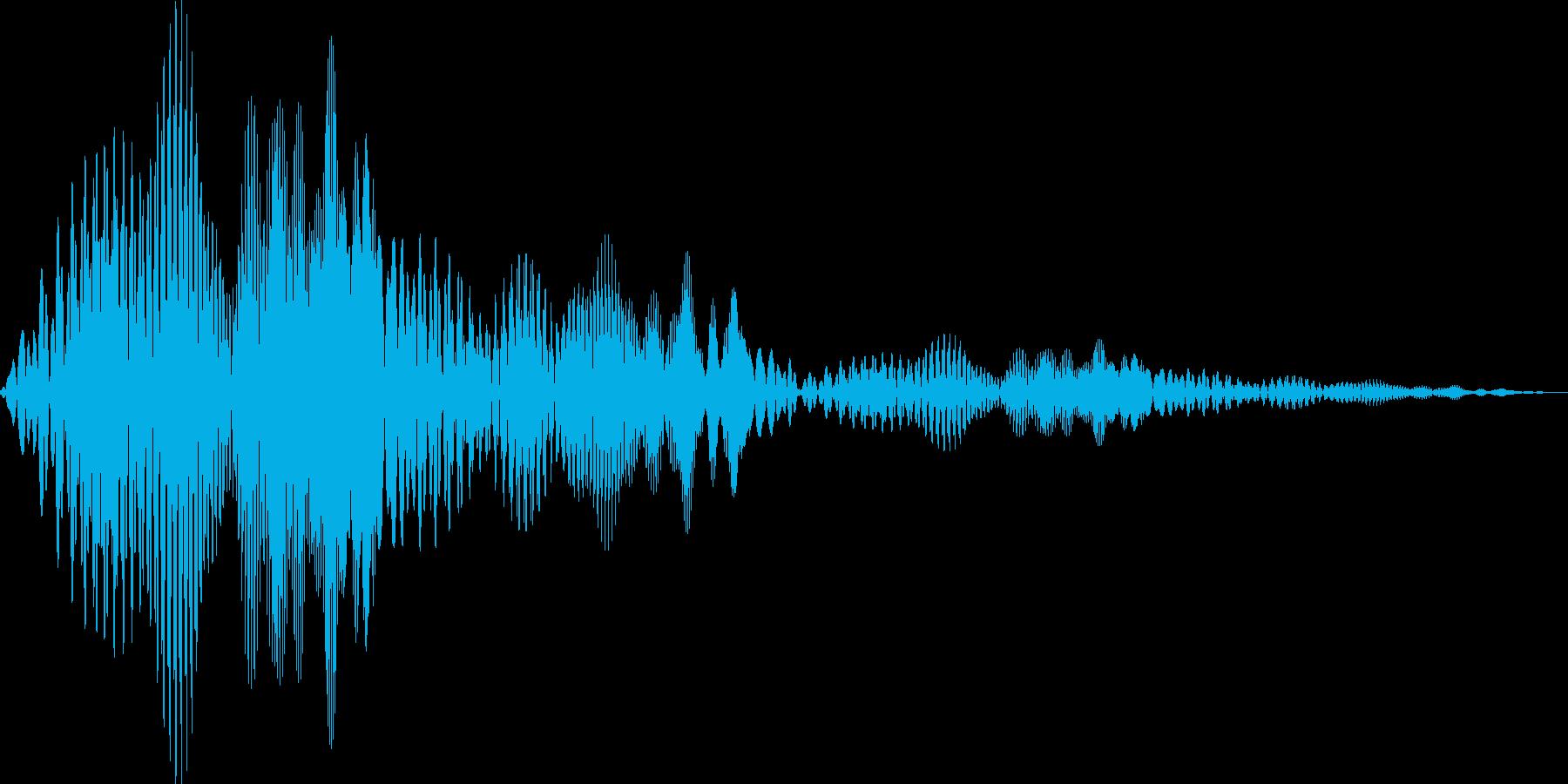 ボワボワ(ワープ ビーム ちからため)の再生済みの波形