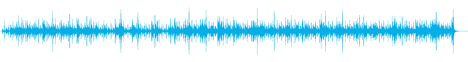カフェで流れていそうなジャズの再生済みの波形