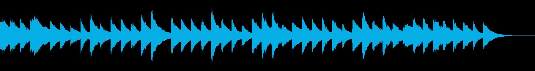 オルゴールが奏でるBGMの再生済みの波形