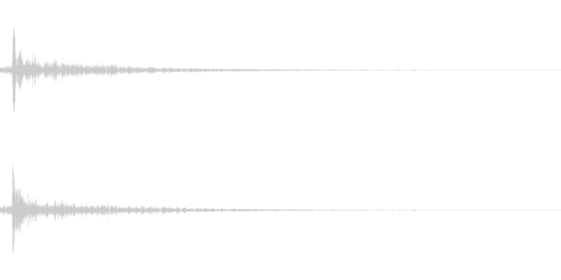 ピンポン玉がはねるの未再生の波形