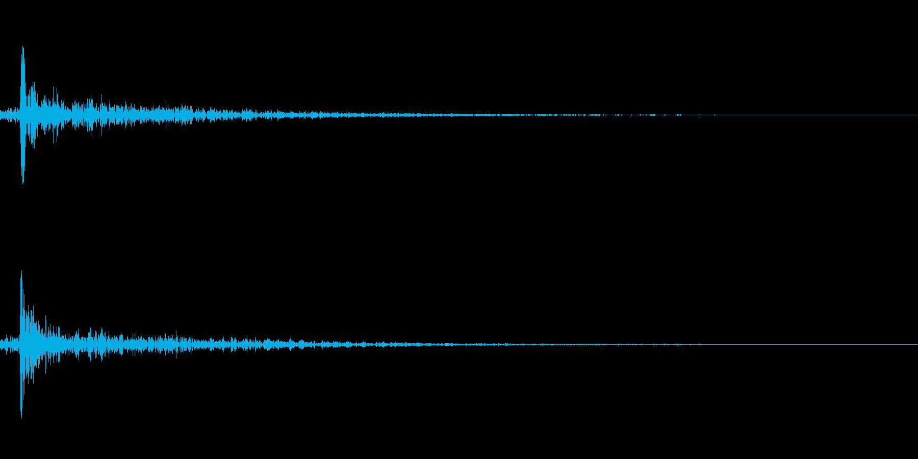 ピンポン玉がはねるの再生済みの波形
