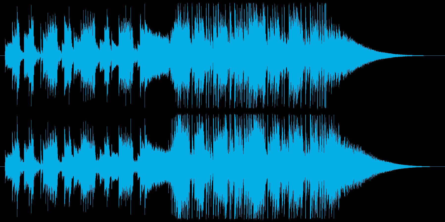 クールな製品紹介向けアコギショートBGMの再生済みの波形