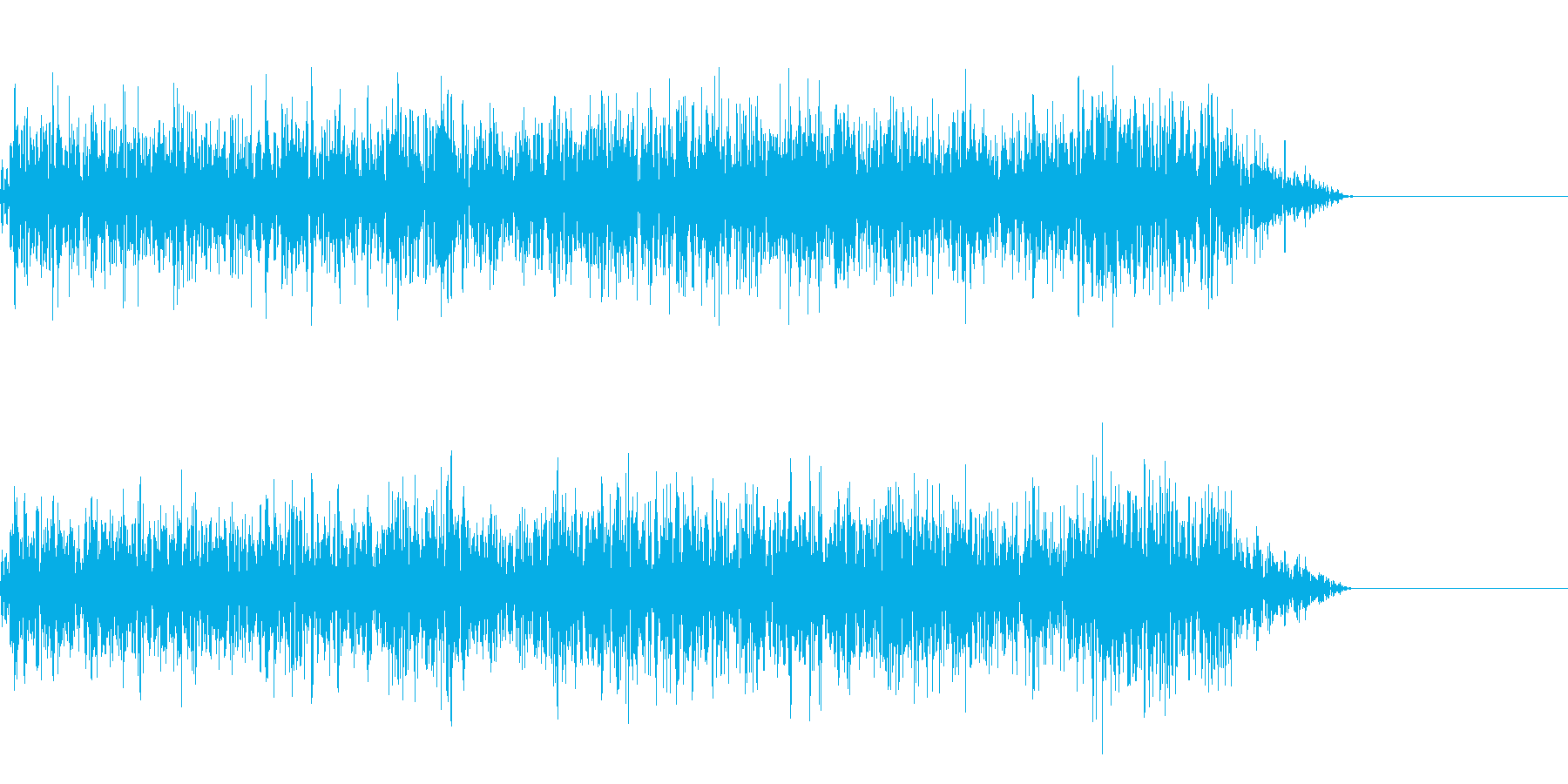 煮えたぎる音の再生済みの波形