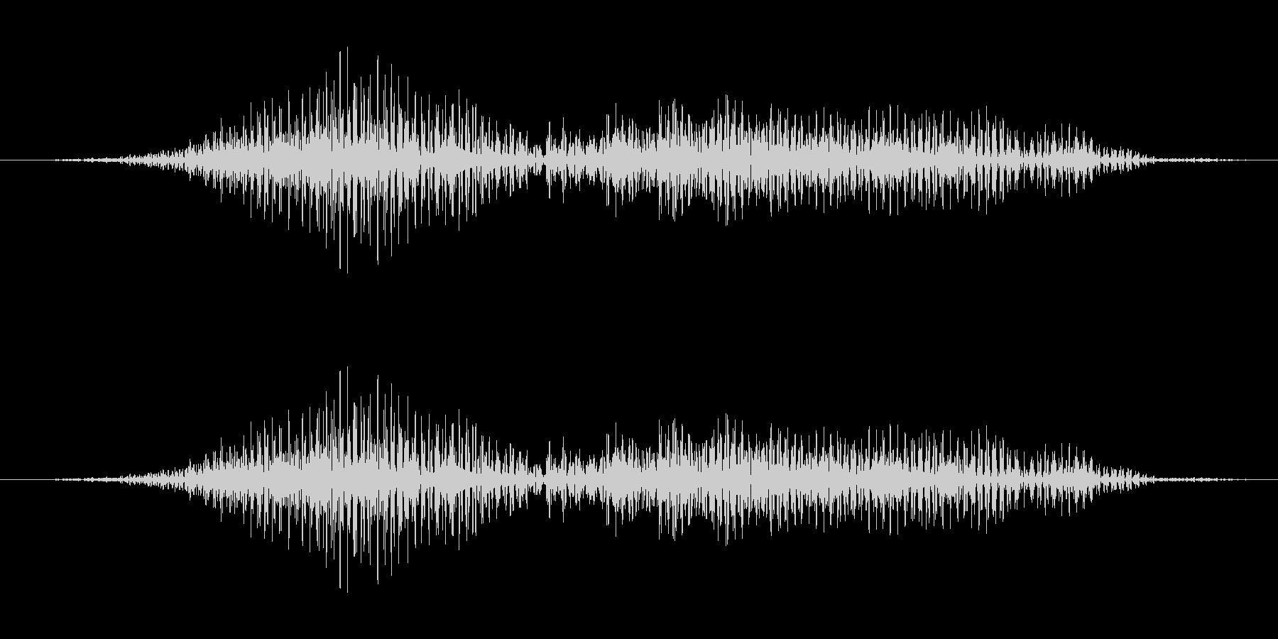 機械的な決定音の未再生の波形