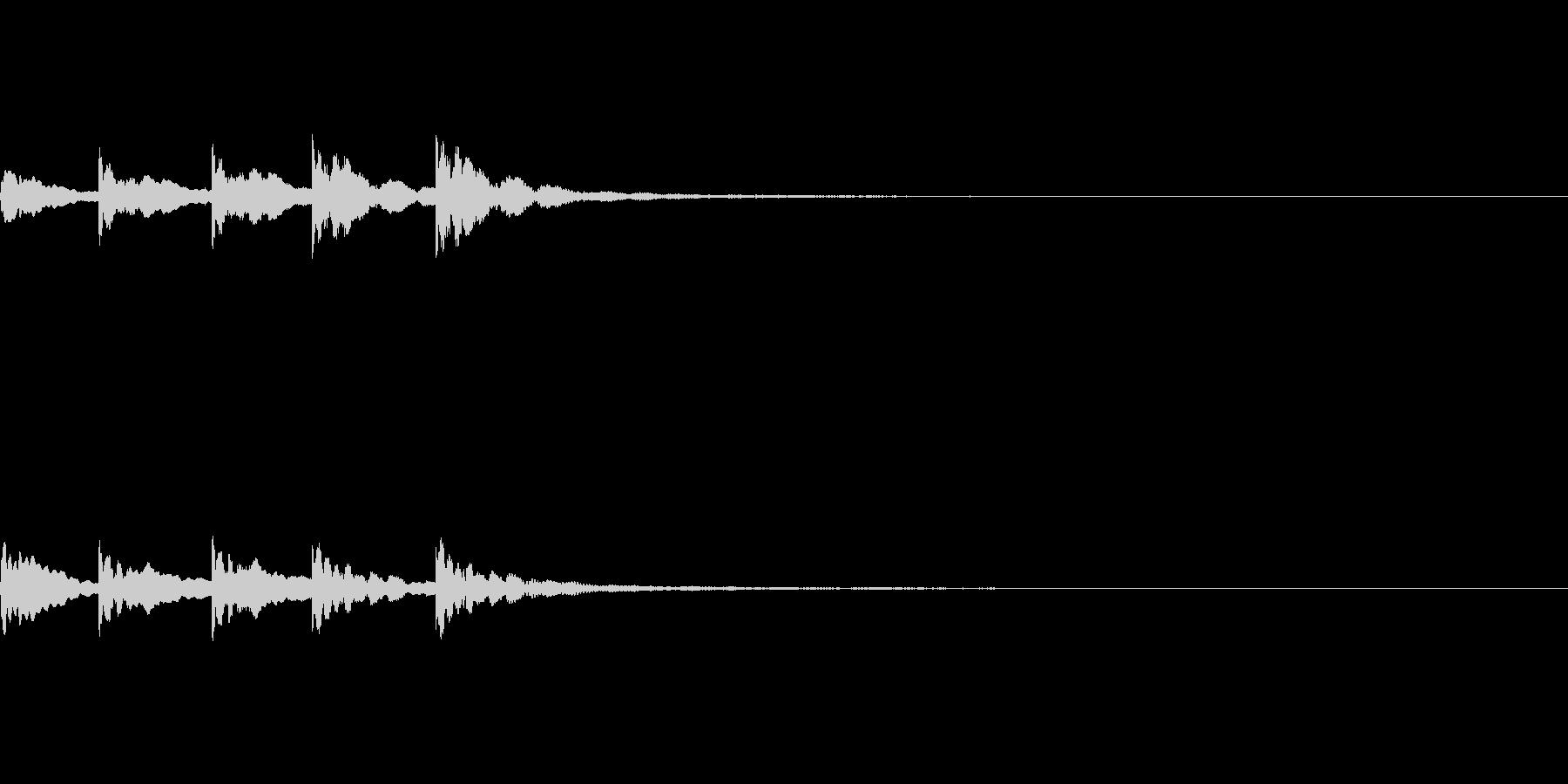【SE 効果音】ティロティリロリン2の未再生の波形