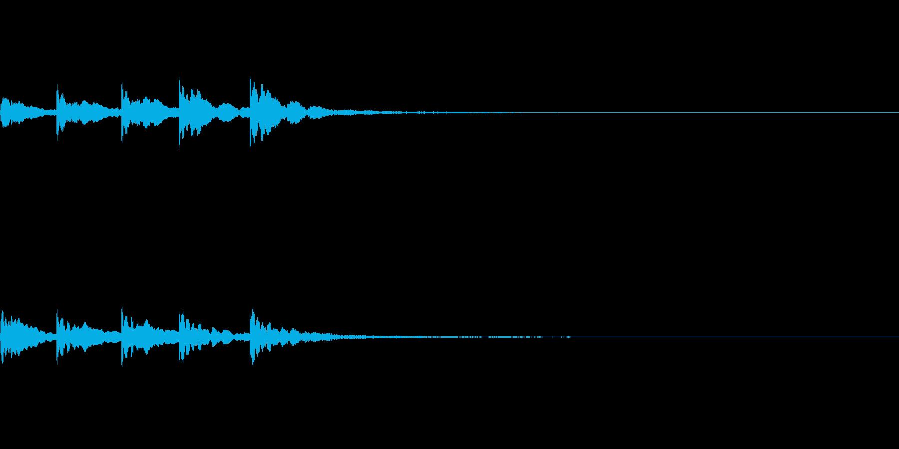 【SE 効果音】ティロティリロリン2の再生済みの波形