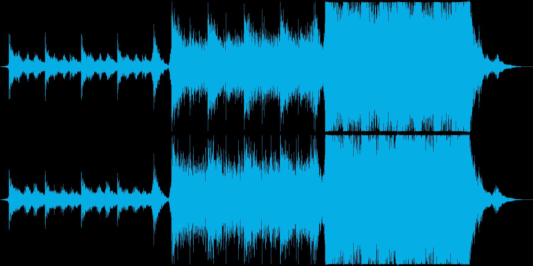 映画の予告編のような壮大な楽曲の再生済みの波形