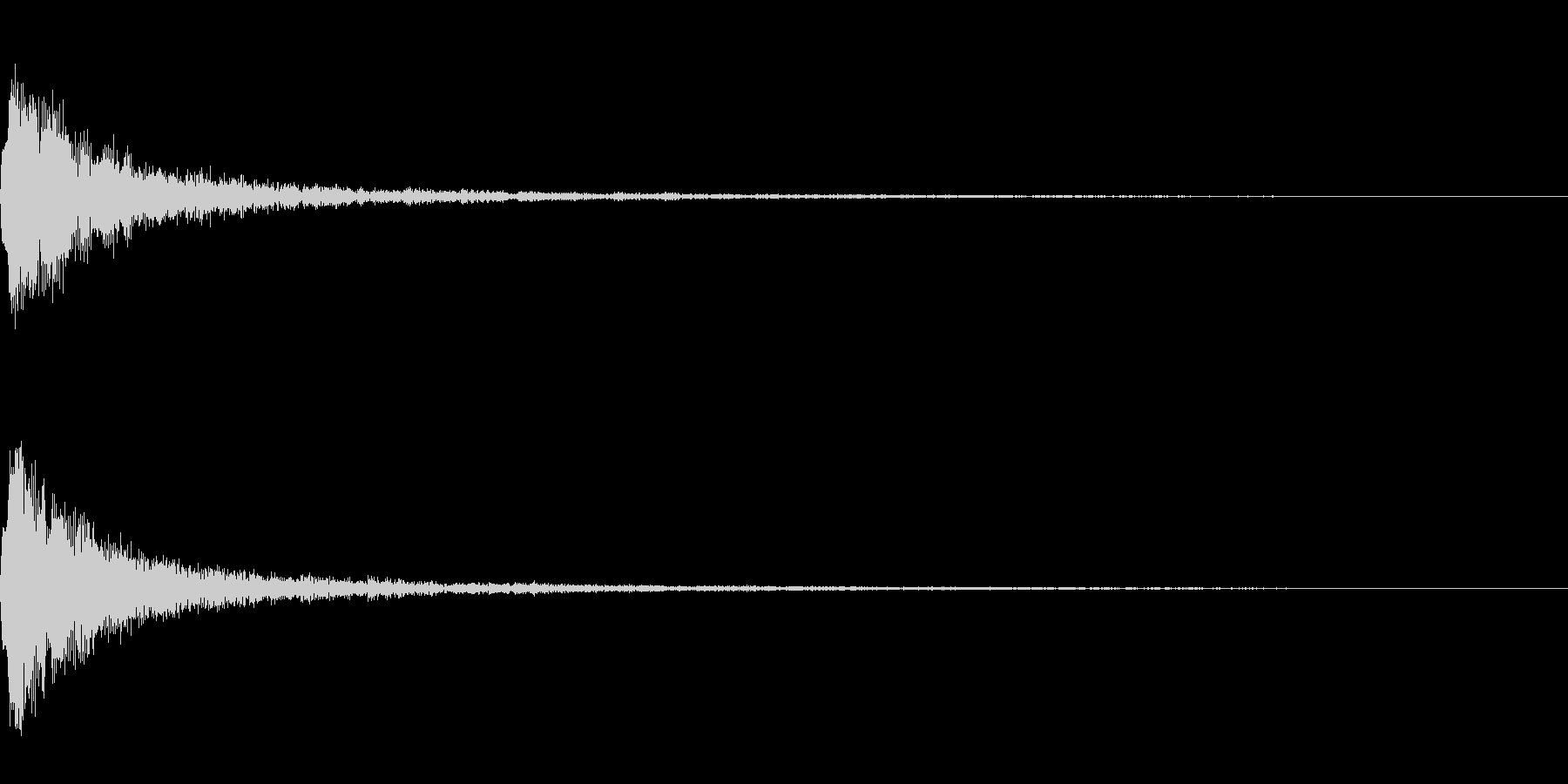 テロップ表示音~明るめの高音~の未再生の波形