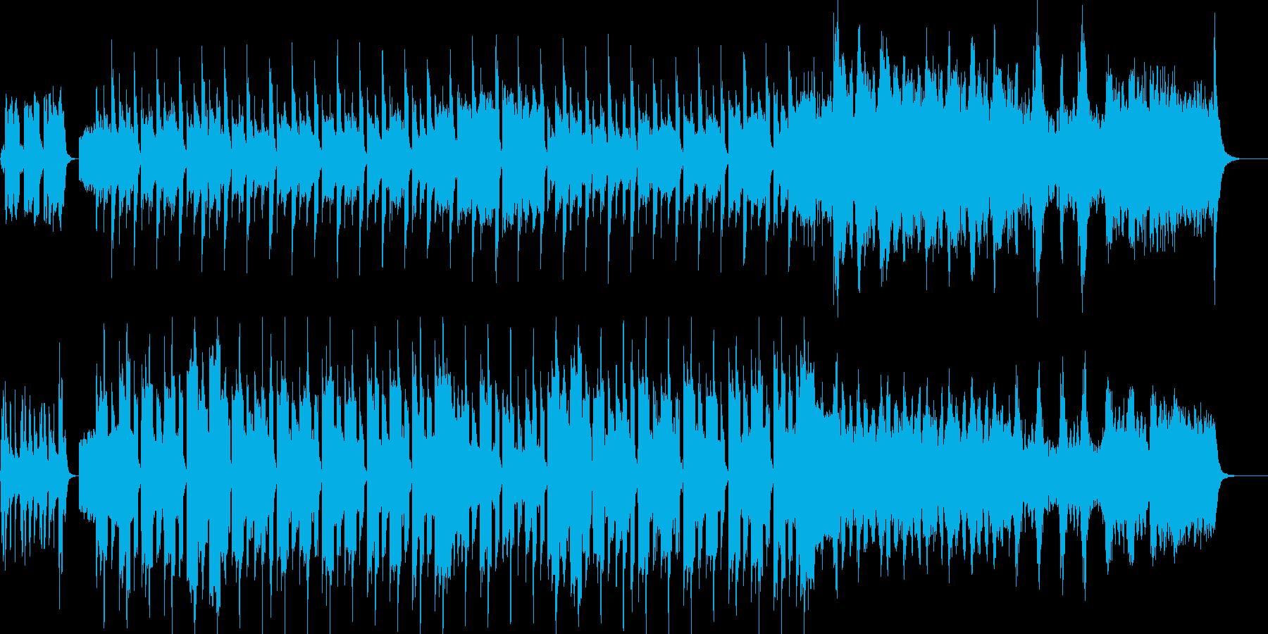 とても平和でほのぼのとした曲の再生済みの波形