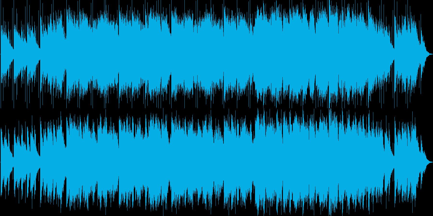 幻想、洞窟、ピアノ、笛の再生済みの波形