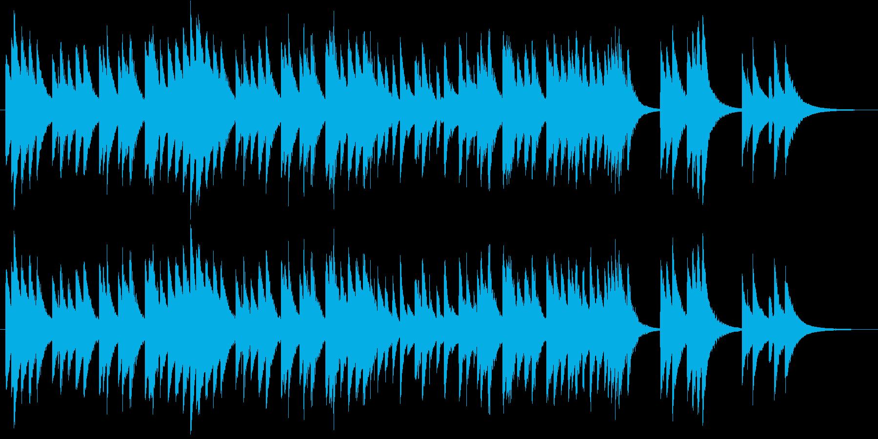 アメリカ国歌 星条旗のオルゴールの再生済みの波形