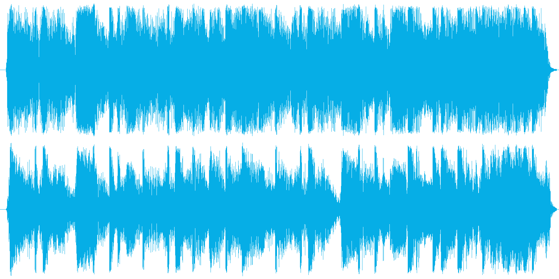 Hard Rockのリフと決めフレーズの再生済みの波形