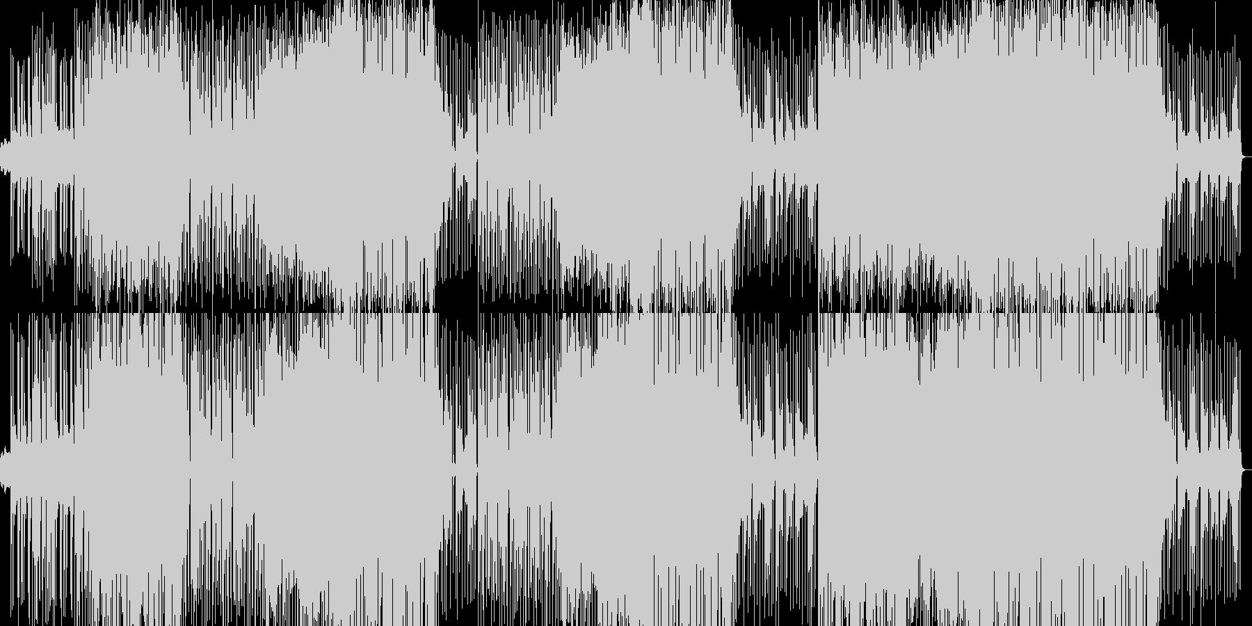 ウキウキとワクワクの戦隊ものポップスの未再生の波形