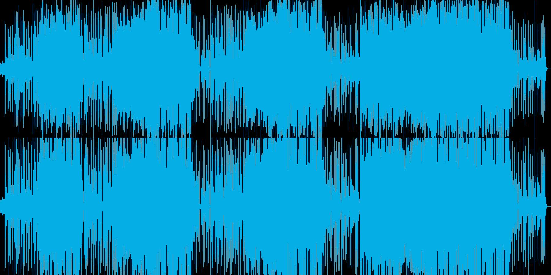 ウキウキとワクワクの戦隊ものポップスの再生済みの波形