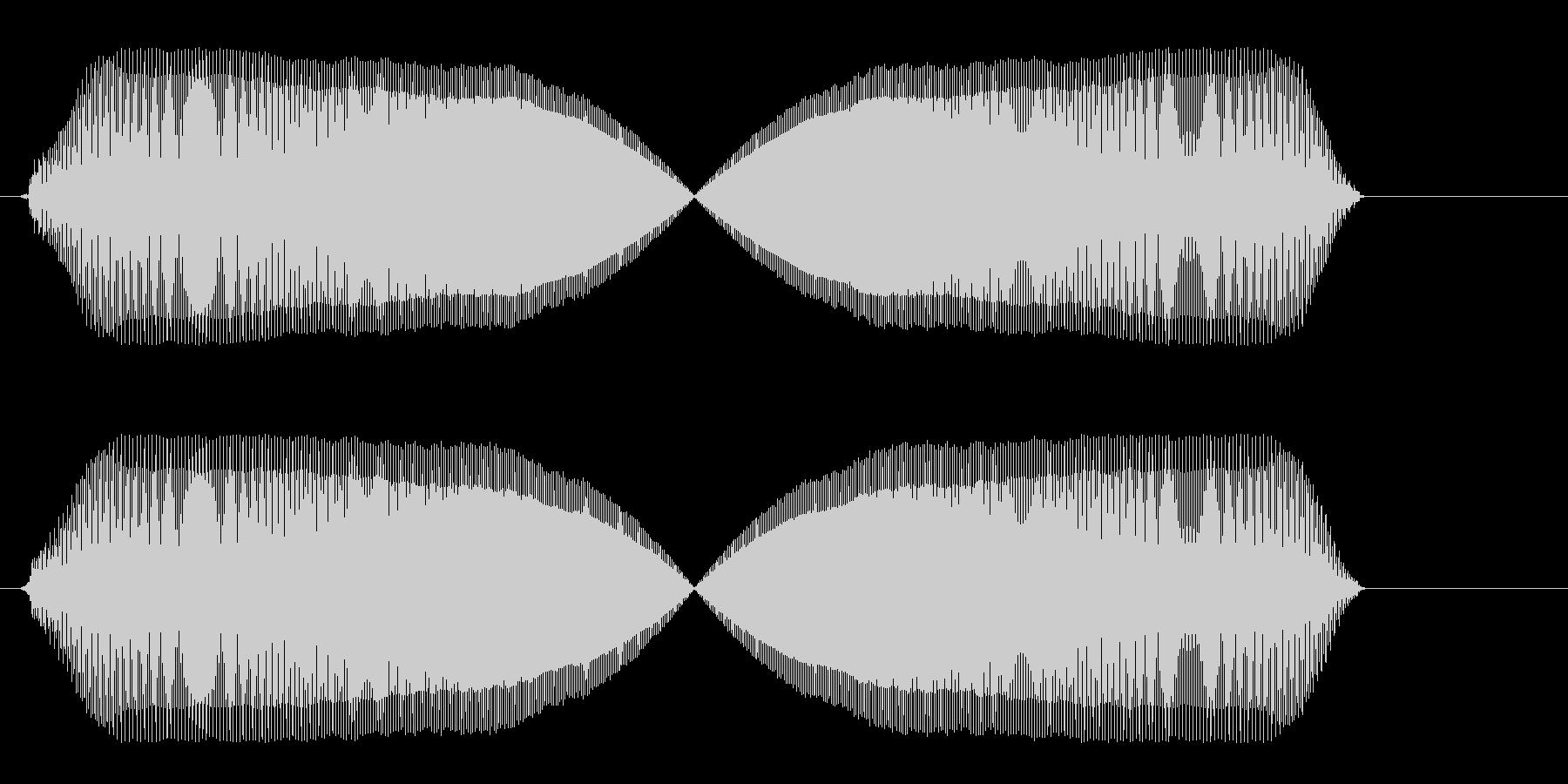 プゥィゥ〜(風船が膨らむような効果音)の未再生の波形