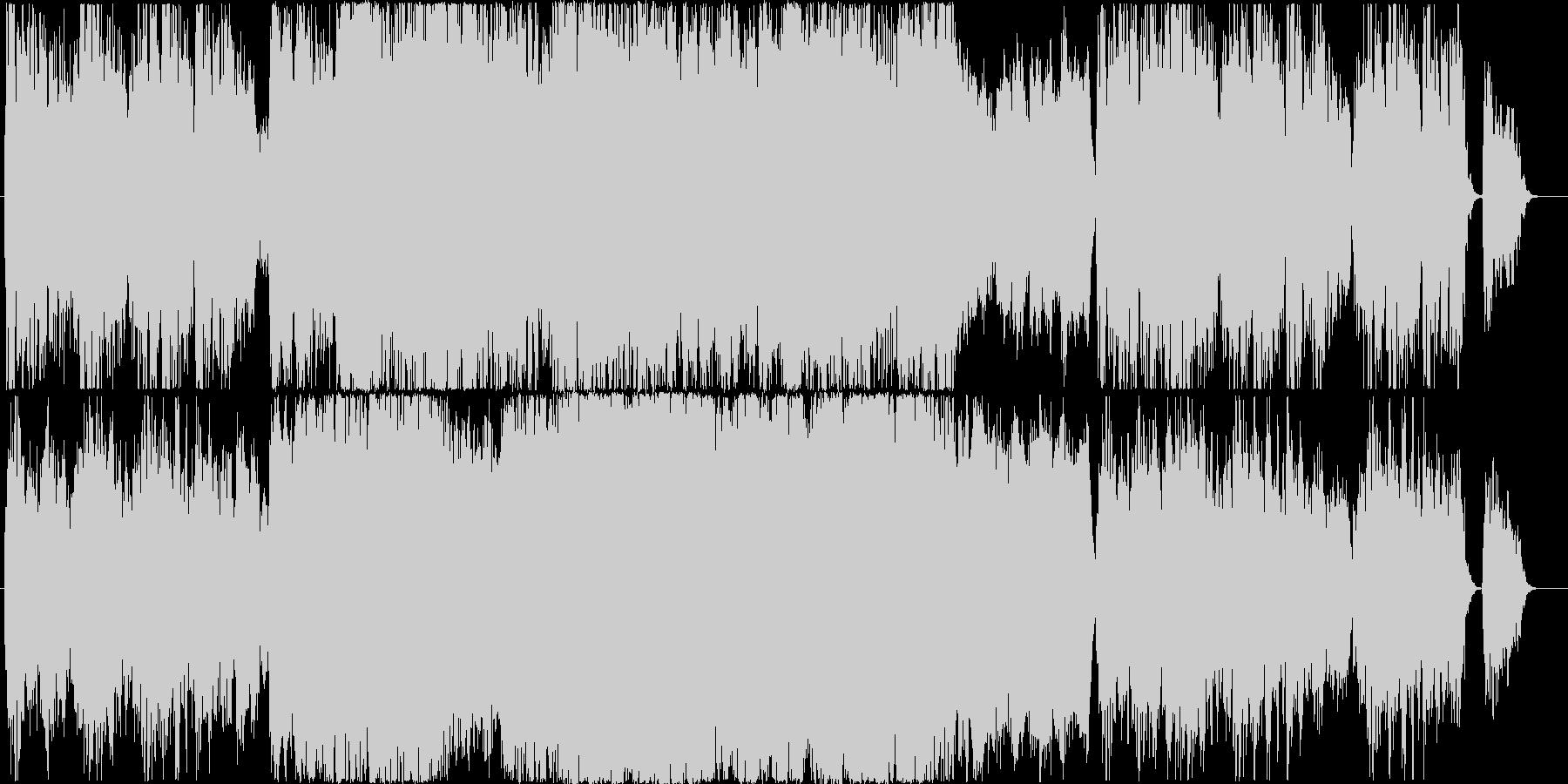 祈りをコーラスと教会オルガンのバロック風の未再生の波形