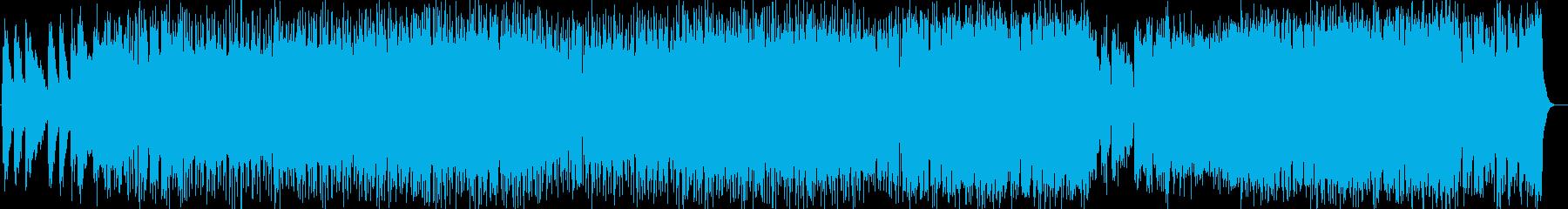 ドラマチック系シンセサイザーサウンドの再生済みの波形
