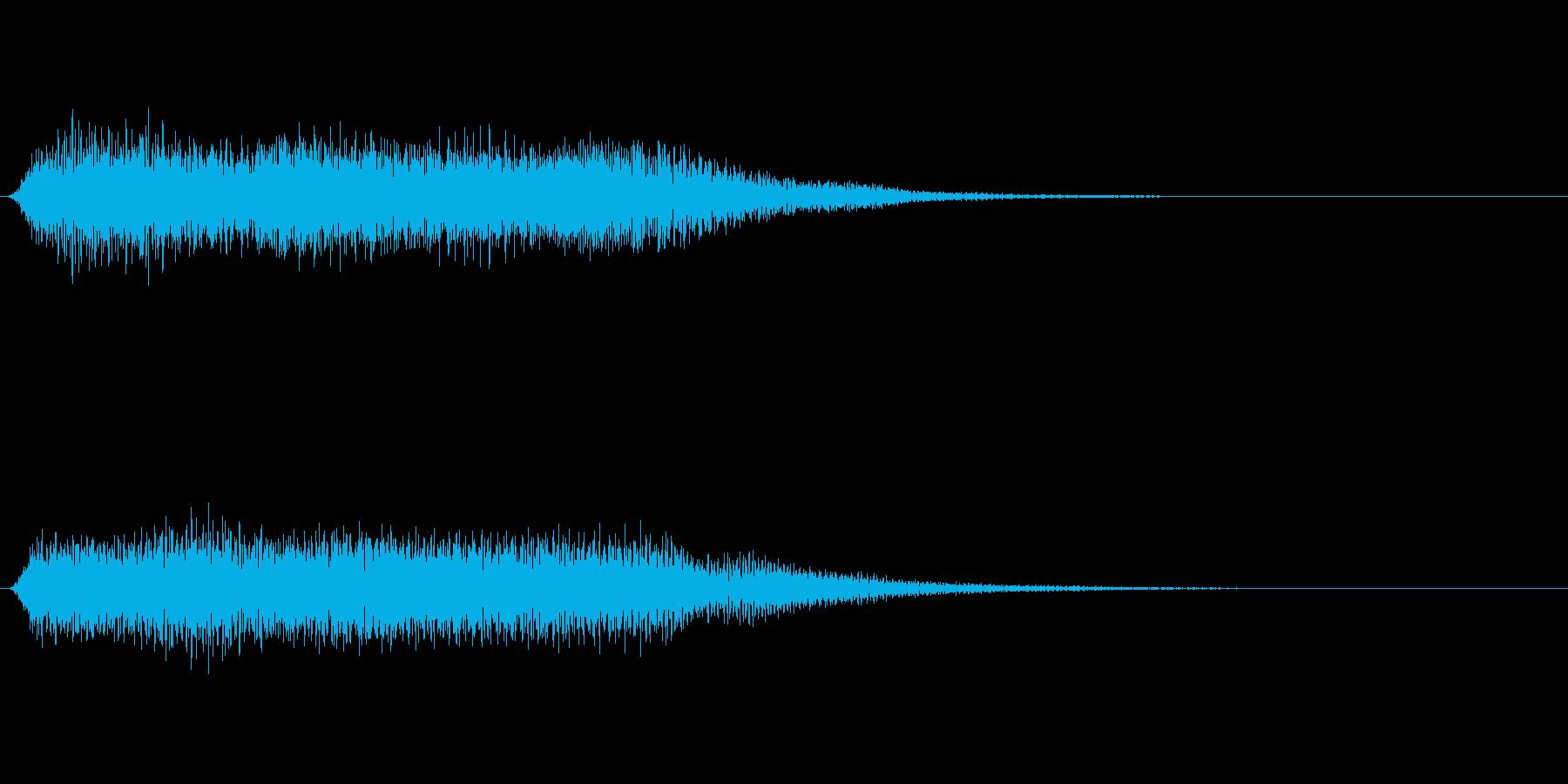 オルガンのゲームオーバー等のサウンドですの再生済みの波形