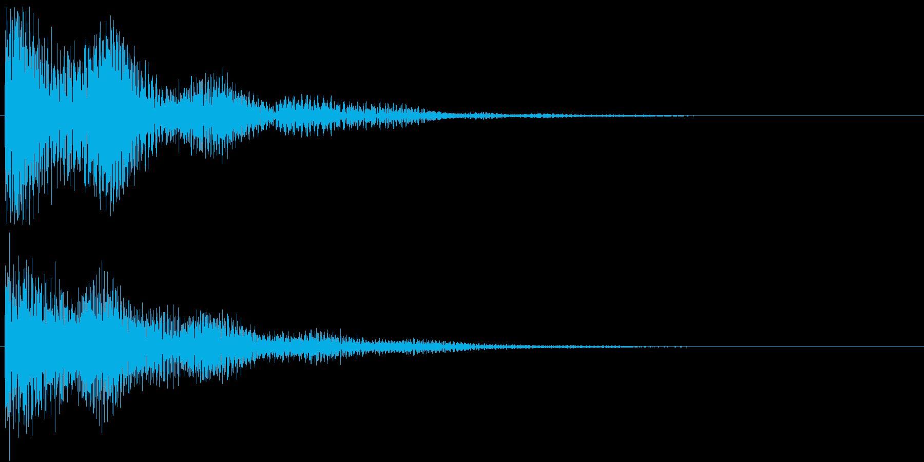 サウンドロゴ(ドワーーン)の再生済みの波形
