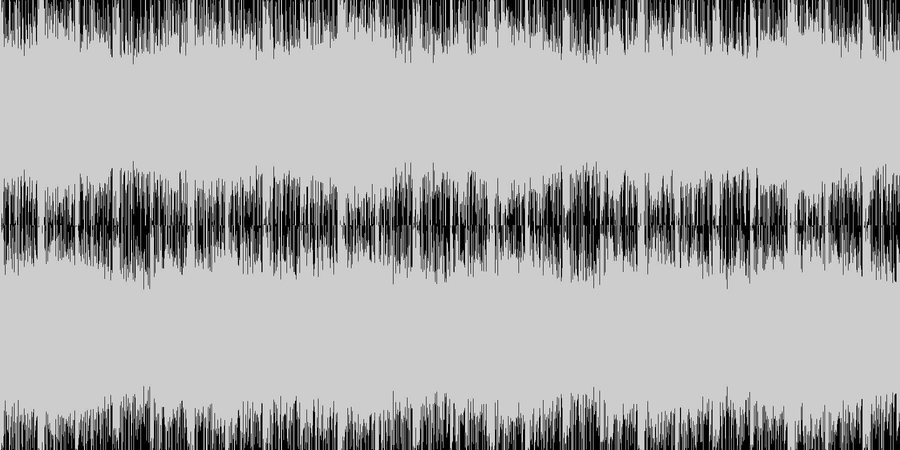 緊迫感のあるエレクトロなループの未再生の波形