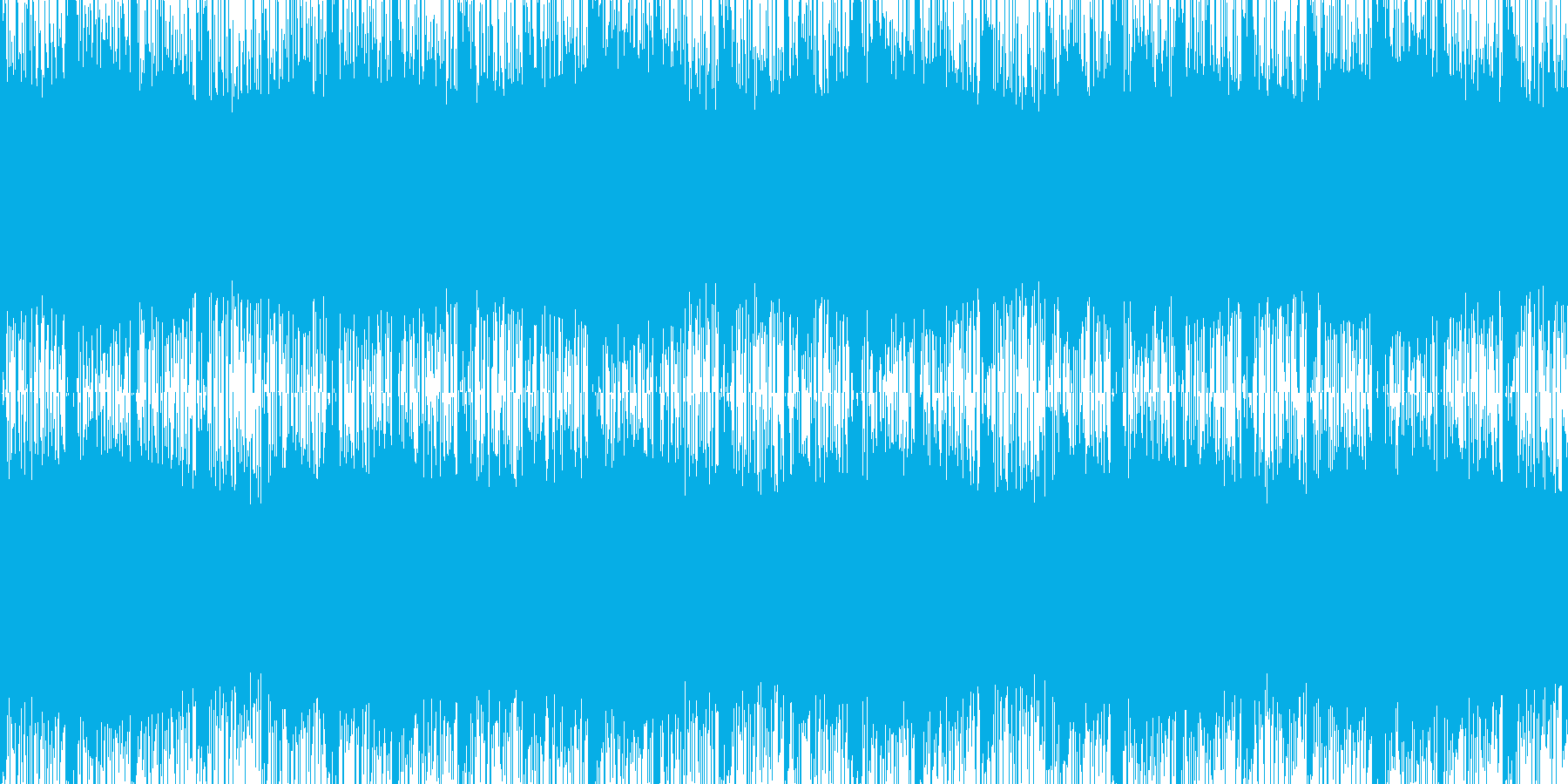 緊迫感のあるエレクトロなループの再生済みの波形