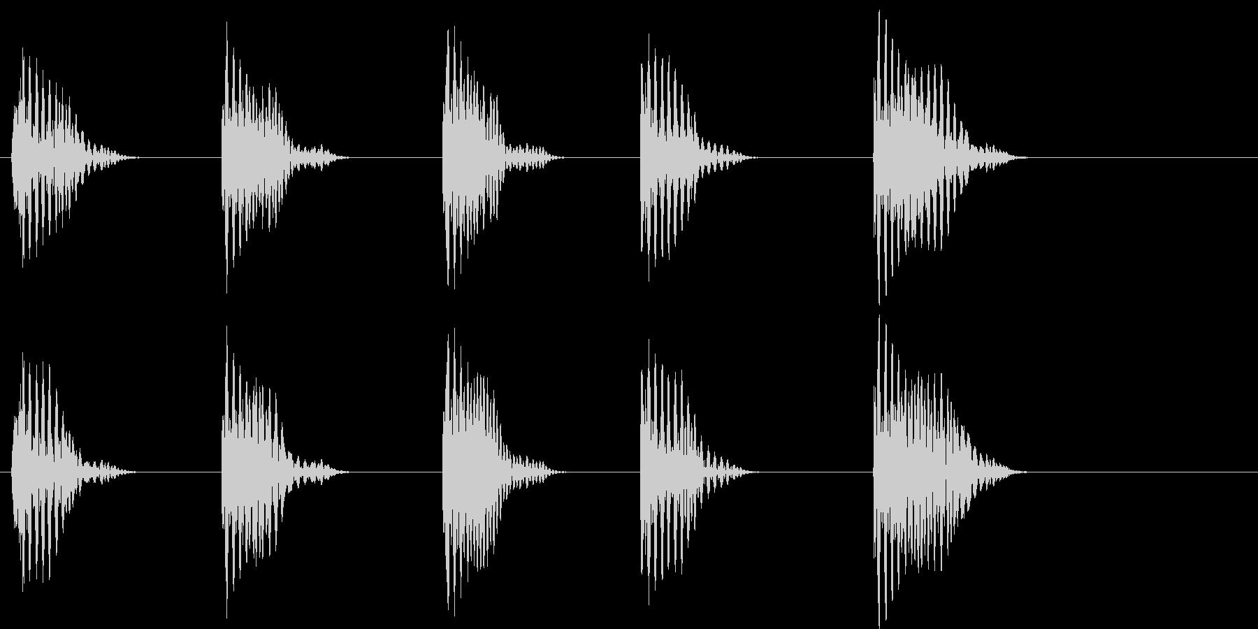 【SE 効果音】ポッポッポッポッポの未再生の波形