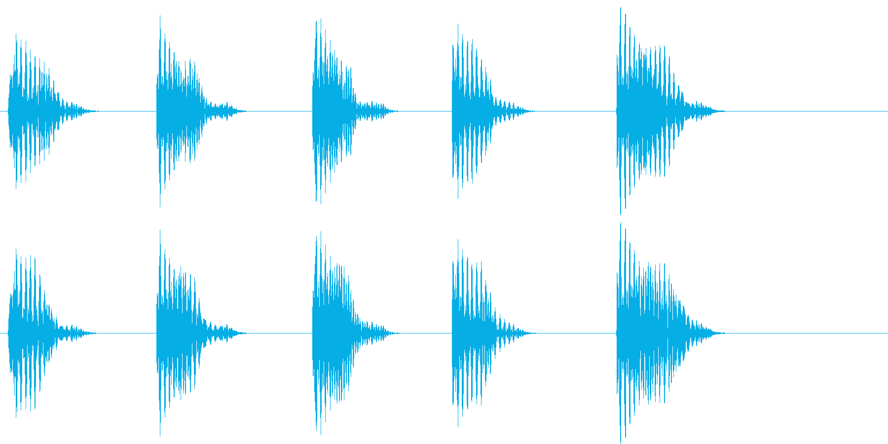 【SE 効果音】ポッポッポッポッポの再生済みの波形