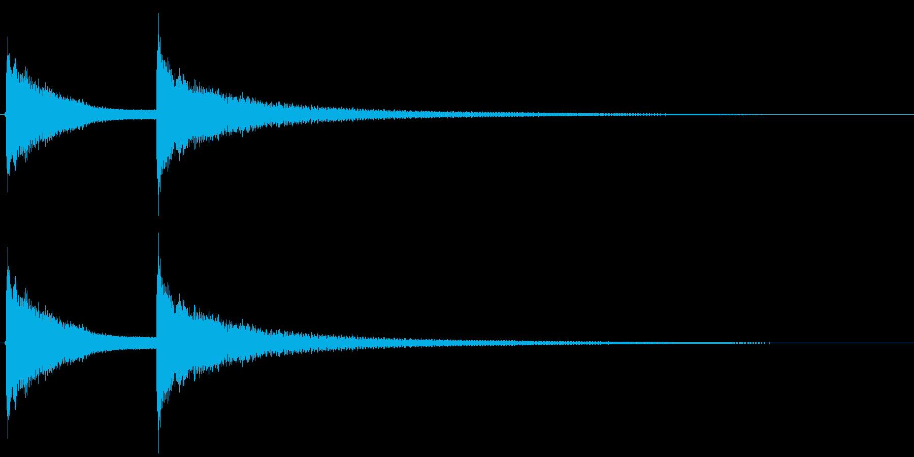 ドアチャイム(アナログ)の再生済みの波形