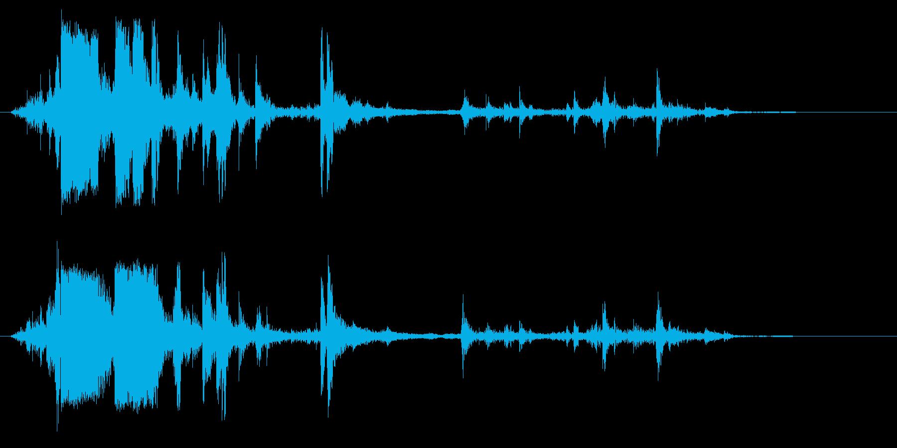 カラカラカラ(氷の音)の再生済みの波形