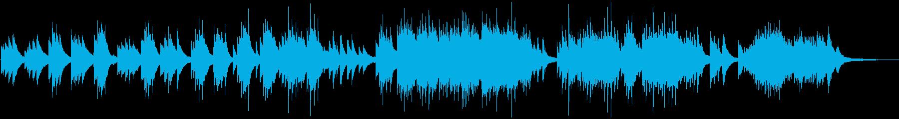 ほっとする安らぎを与えるピアノソロの再生済みの波形