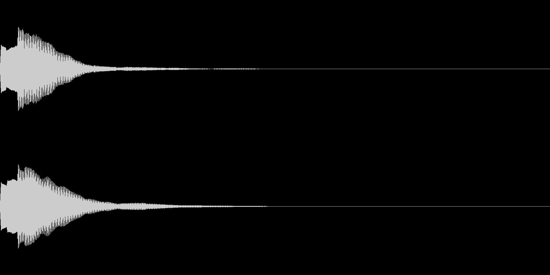 決定音70_シンセAIの未再生の波形