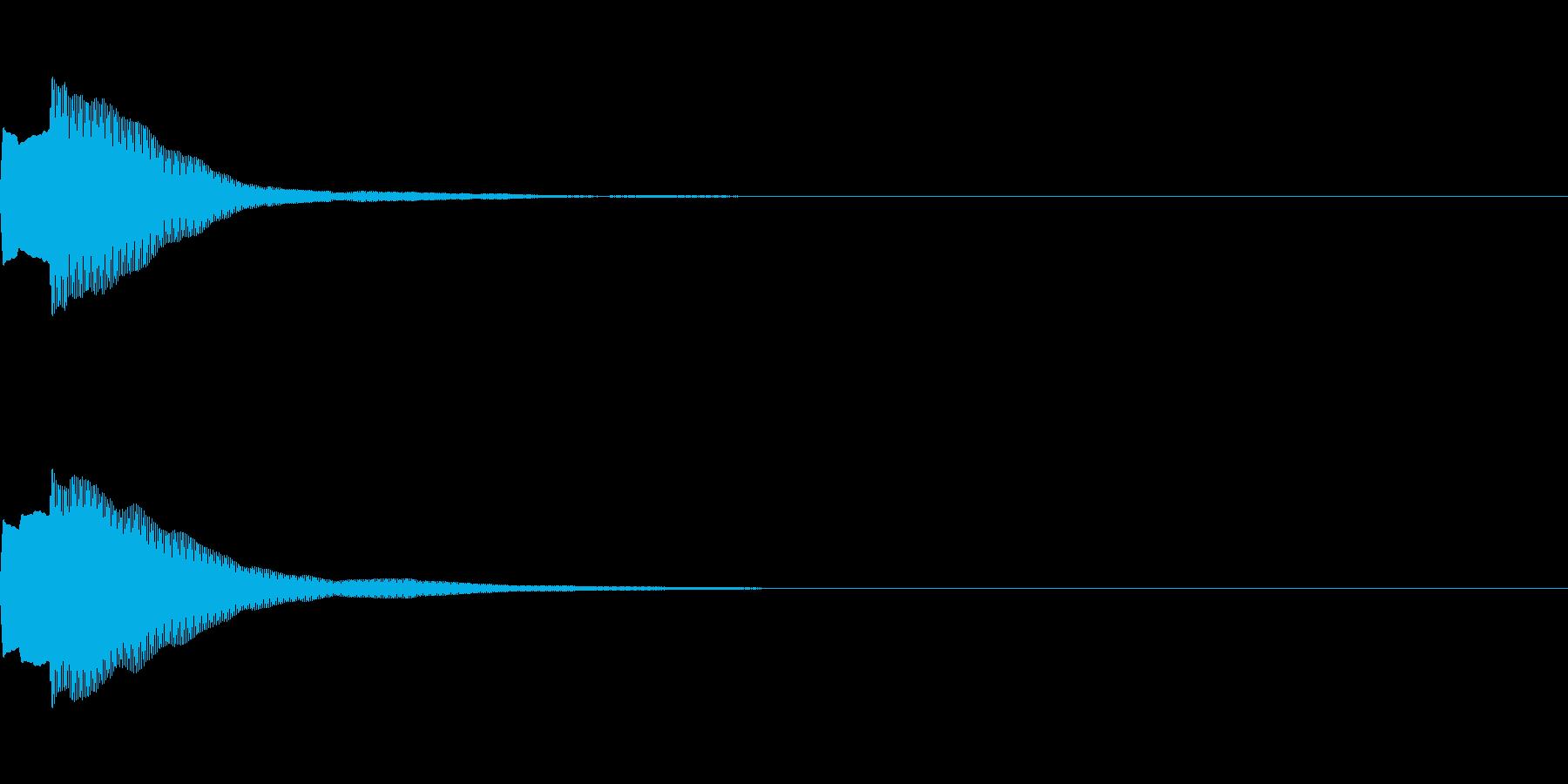 決定音70_シンセAIの再生済みの波形