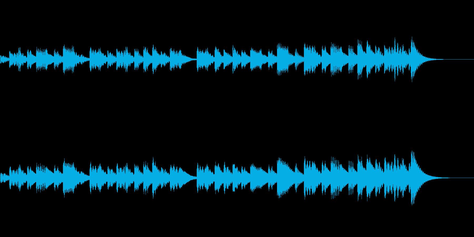 きれいなベル音のBGMの再生済みの波形