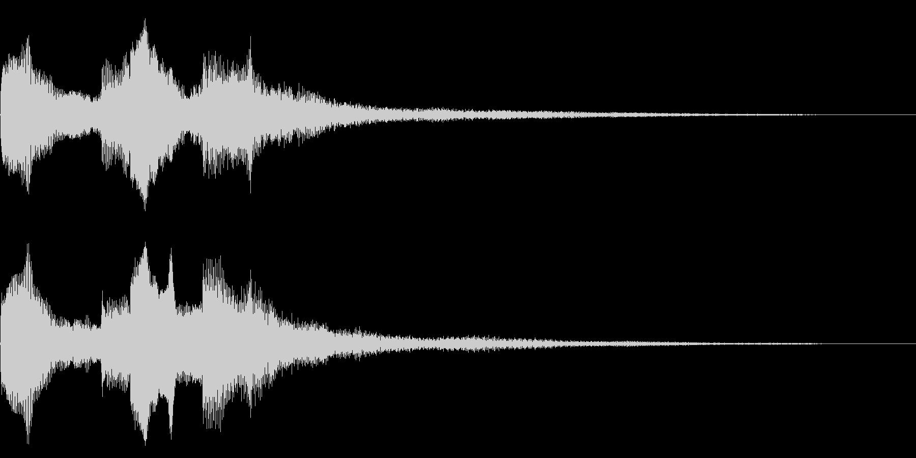 シンプルな場面転換音 切り替え CMインの未再生の波形