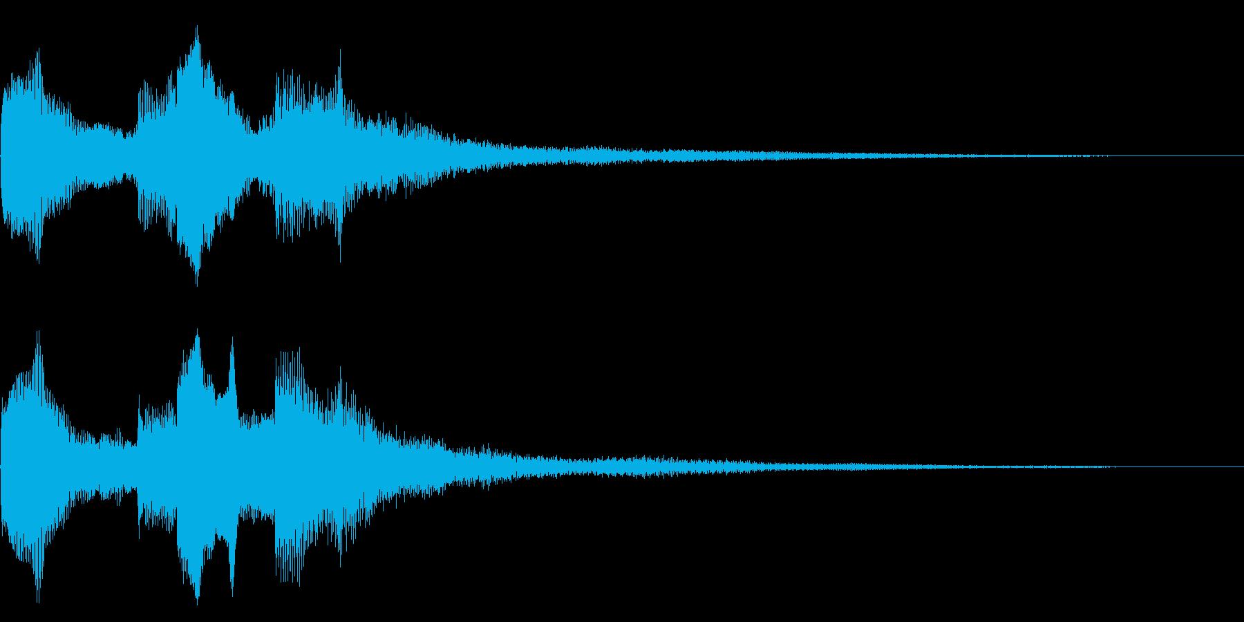 シンプルな場面転換音 切り替え CMインの再生済みの波形