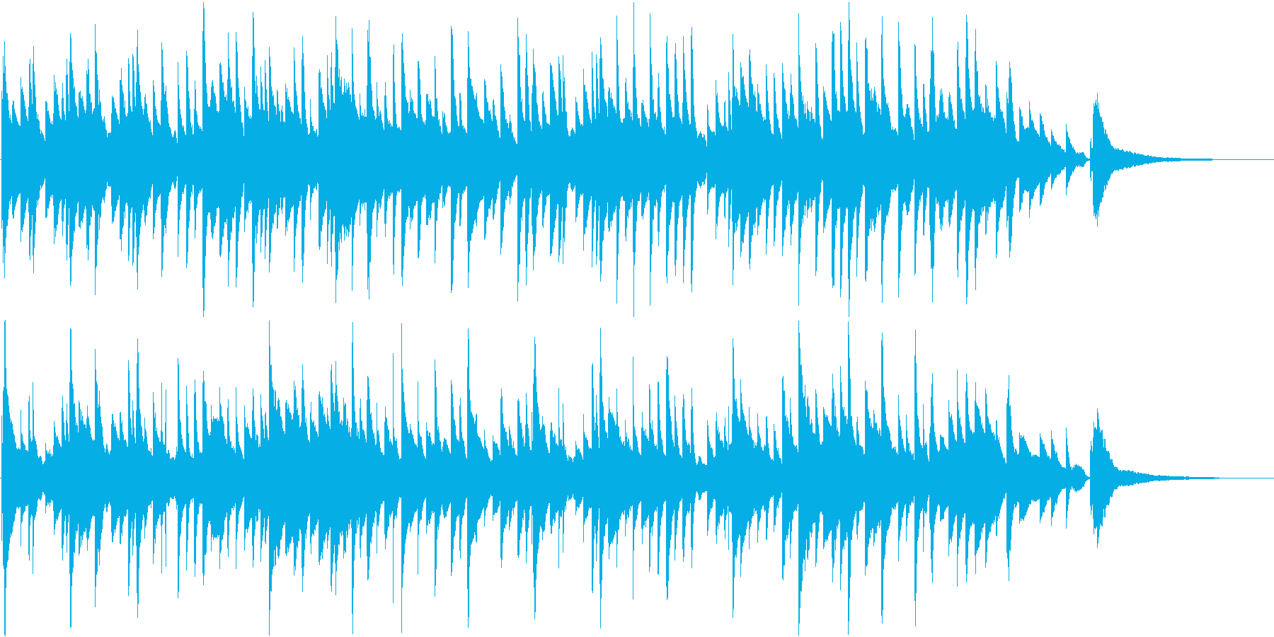 綺麗な高域が特徴のピアノ曲。スローテンポの再生済みの波形