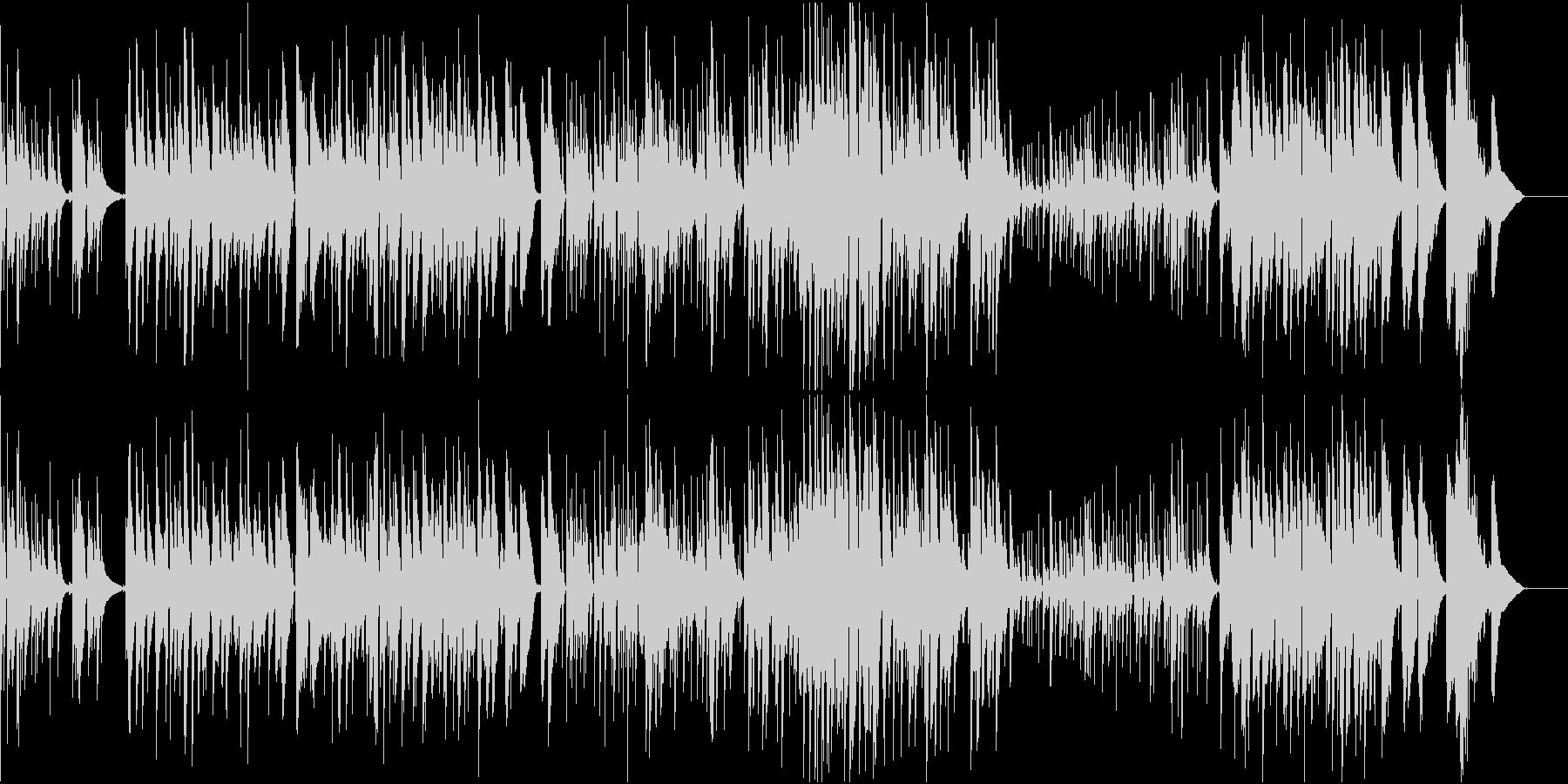 バリトンサックスとアコギのジャズワルツの未再生の波形