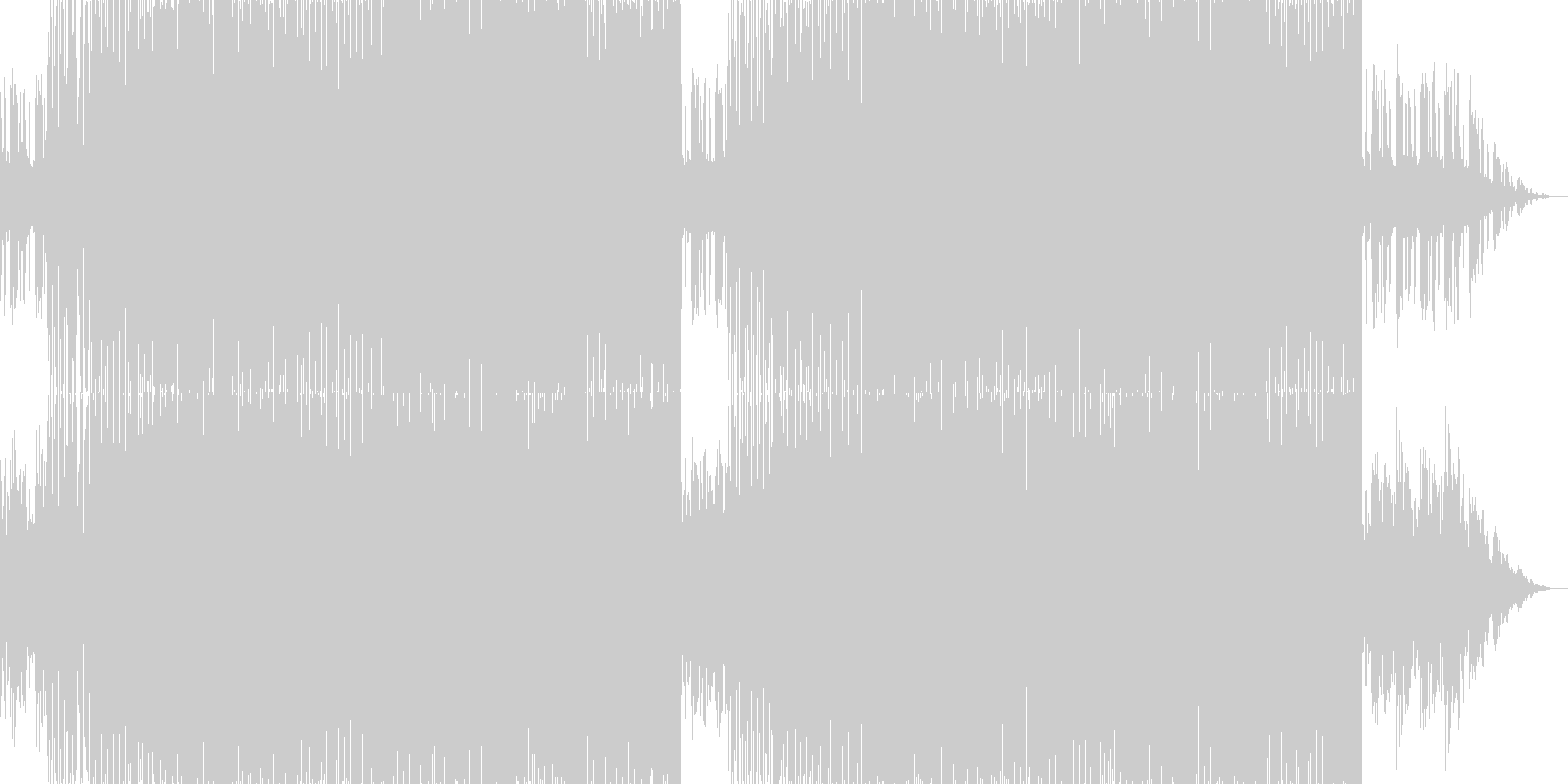 メロディーが美しいトランスの未再生の波形