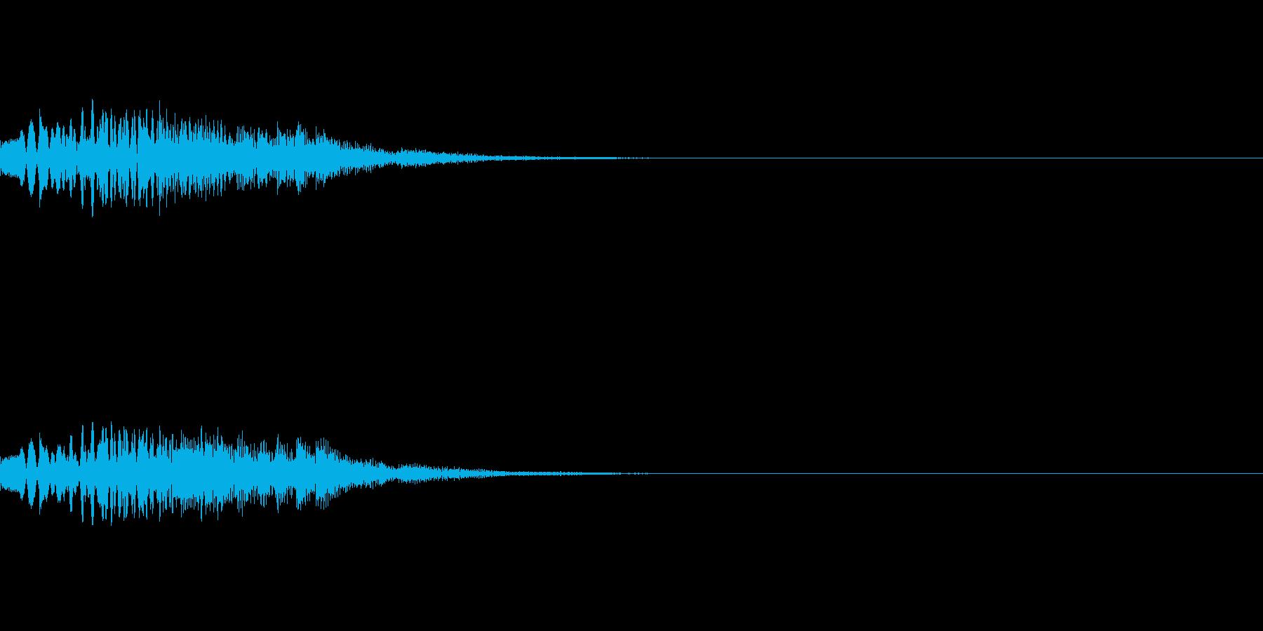 謎を解いた際の音、変身の音の再生済みの波形