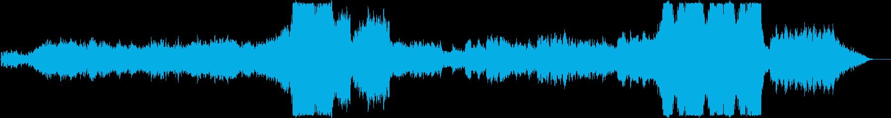 緩急のある神秘的なオーケストラBGMの再生済みの波形