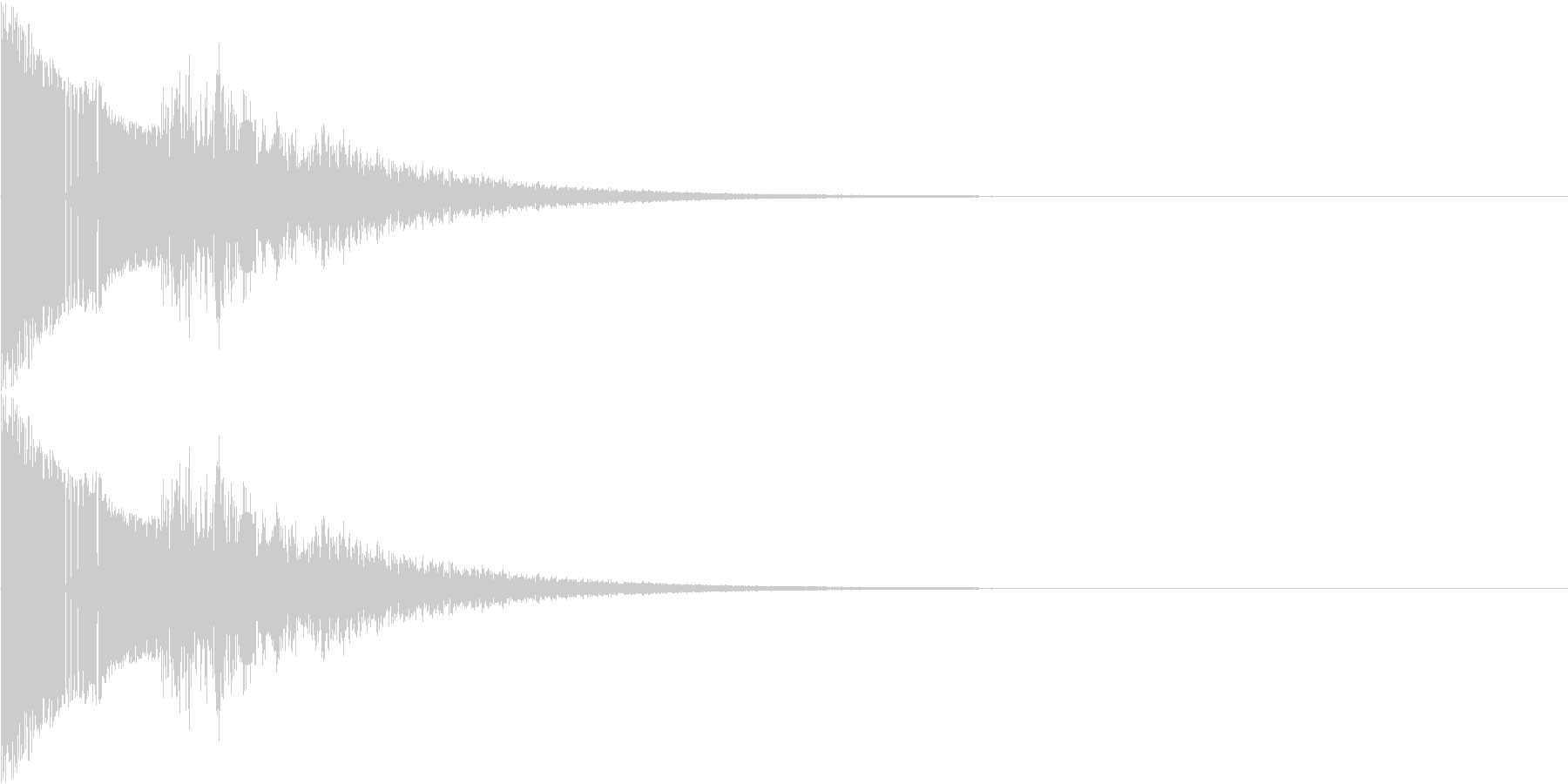 ジャンプする効果音ですの未再生の波形