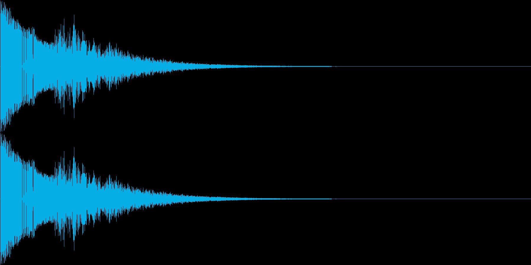 ジャンプする効果音ですの再生済みの波形