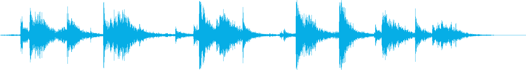 カチャカチャ..。トイレットペーパーの音の再生済みの波形