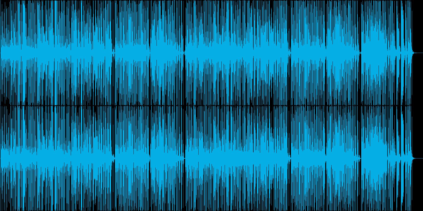 リコーダーのおどけた雰囲気の温かい楽曲の再生済みの波形