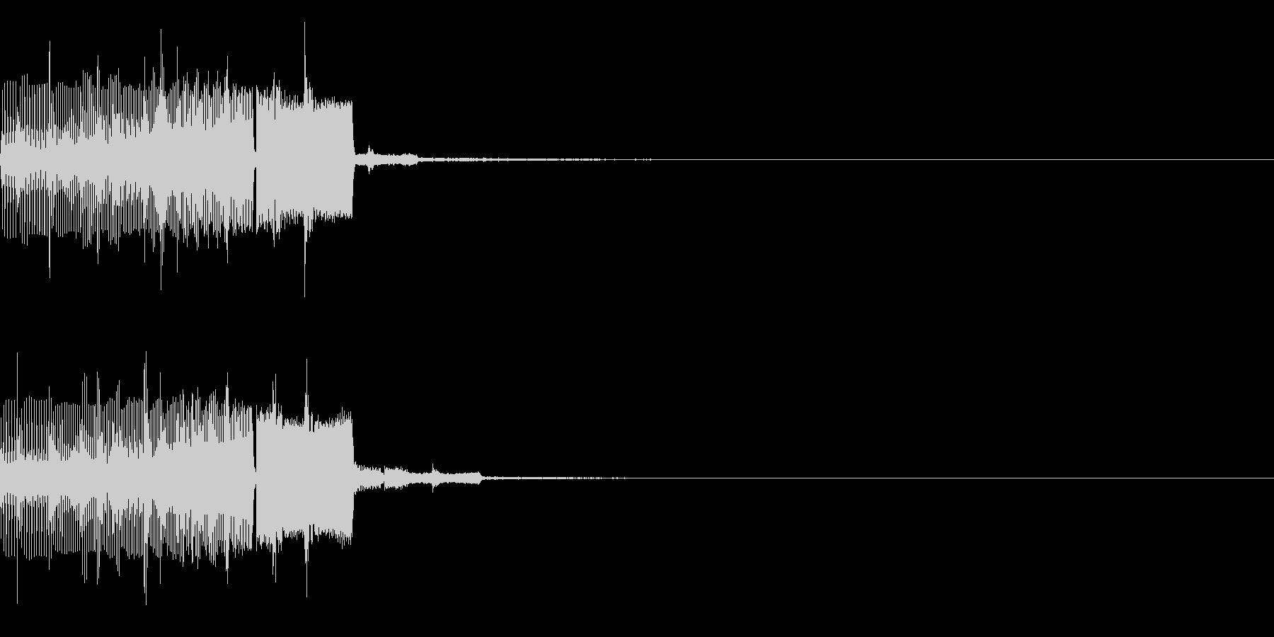 場面転換時などに使える効果音の未再生の波形