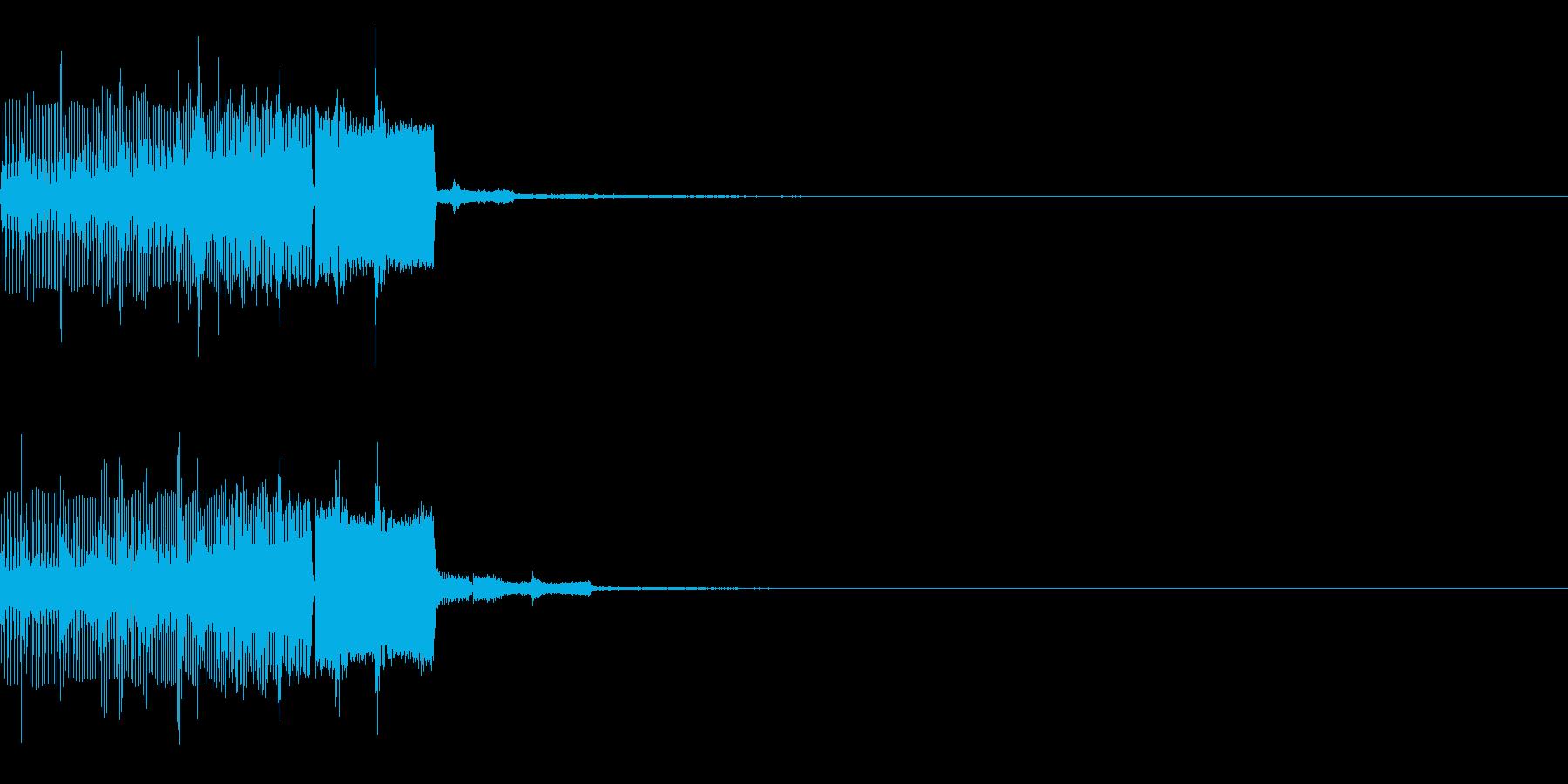 場面転換時などに使える効果音の再生済みの波形