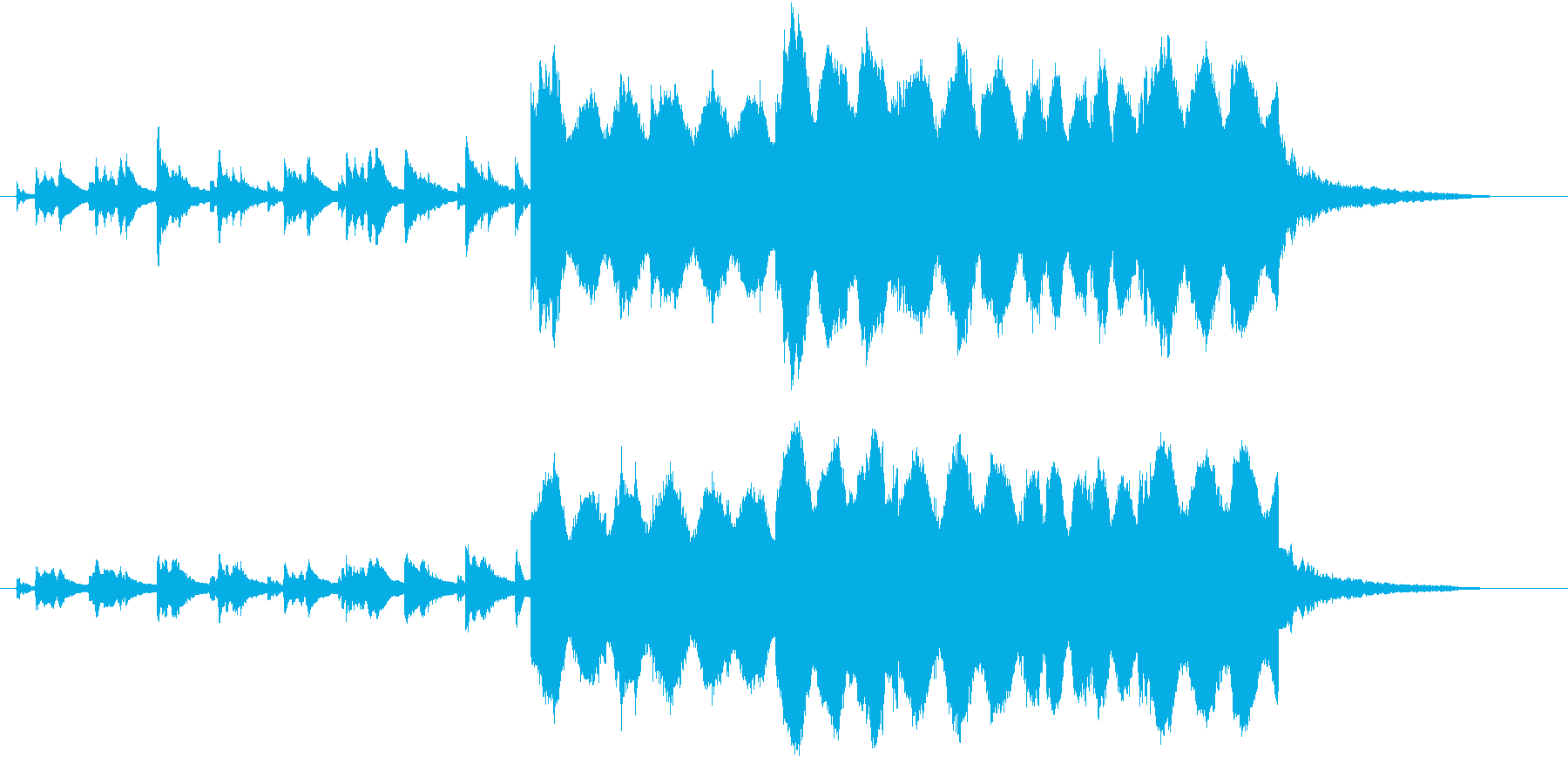 サスペンスドラマで被告人が自白する時の曲の再生済みの波形